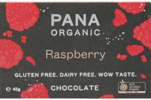 pana organic raspberry 46g bar - front